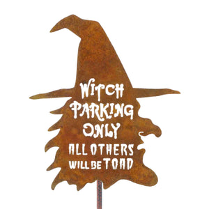 Witch Parking Garden Stick Sign