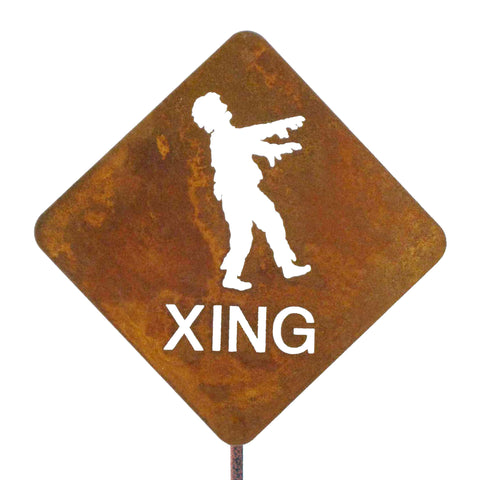 Zombie XING Garden Stick Sign