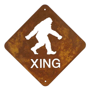 Bigfoot XING Wall Mount Sign