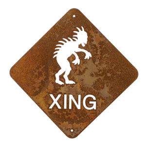 Chupacabra XING Wall Mount Sign