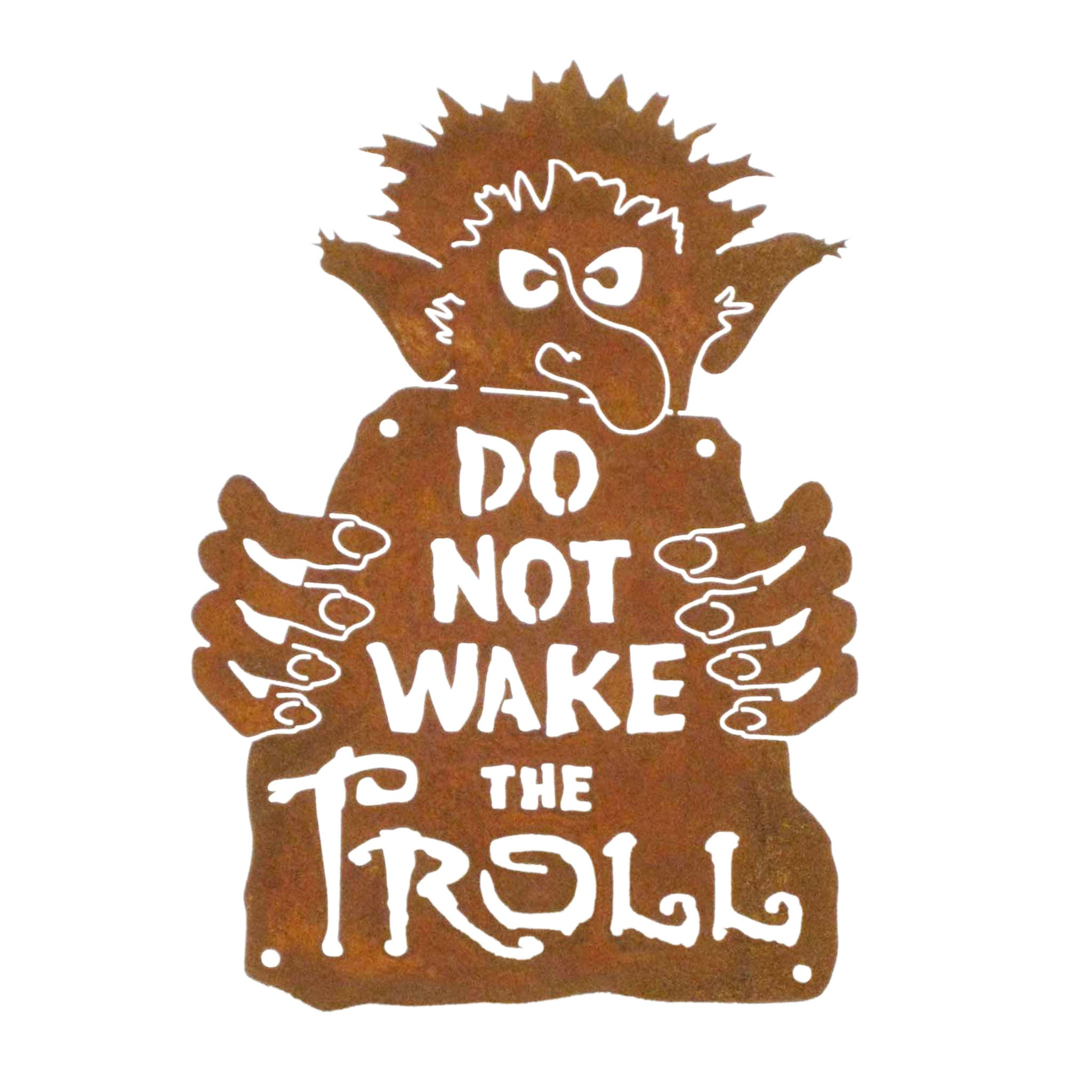 Do Not Wake The Troll Wall Mount Sign