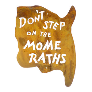 Don't Step On The Mome Raths Wall Mount Sign