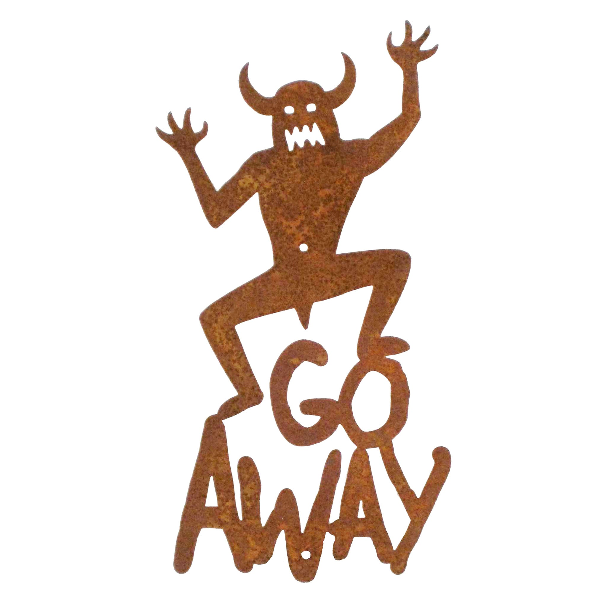 Go Away Wall Mount Sign
