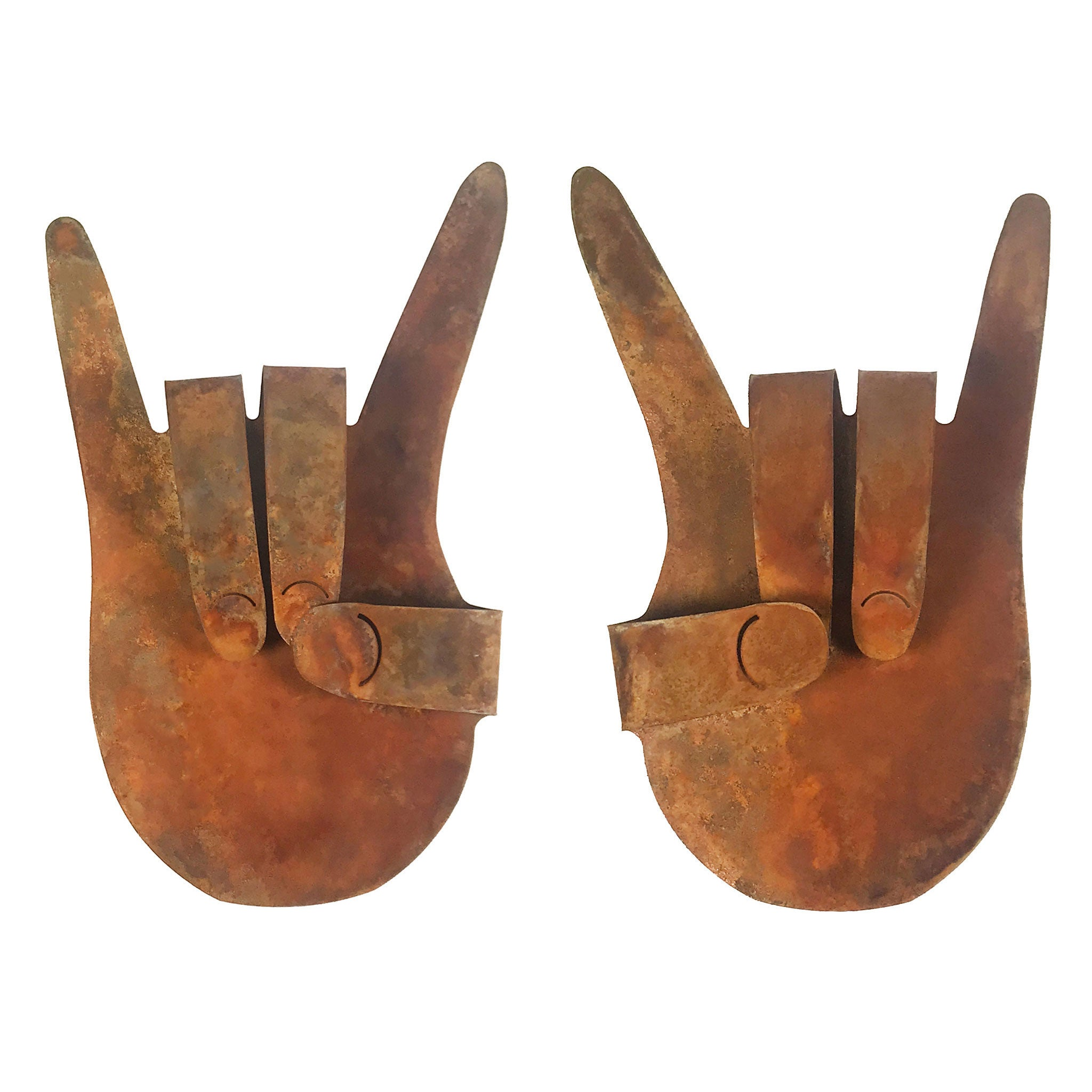 Rock On Hands (Set of 2) Wall Mount Sign