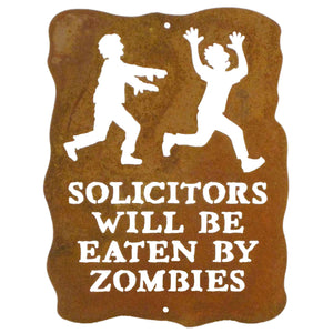 Solicitors Will Be Eaten By Zombies Wall Mount Sign