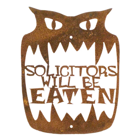 Solicitors Will Be Eaten Wall Mount Sign