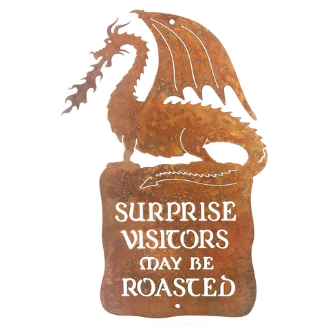 Surprise Visitors Roasted Wall Mount Sign