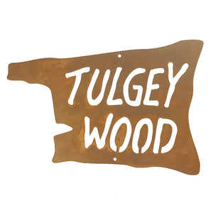 Tulgey Wood Wall Mount Sign
