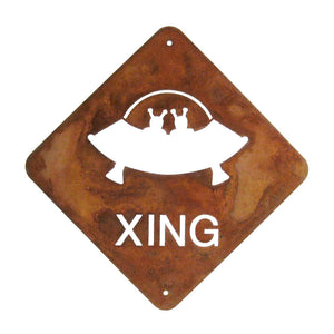 UFO XING Wall Mount Sign