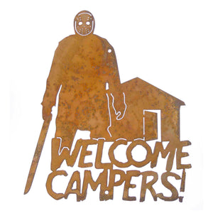 Welcome Campers Wall Mount Sign