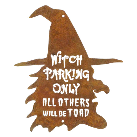 Witch Parking Wall Mount Sign