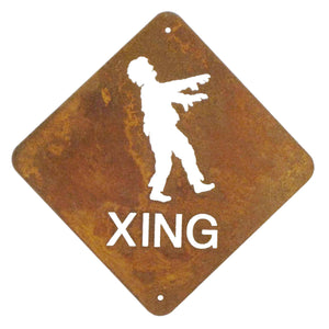 Zombie XING Wall Mount Sign