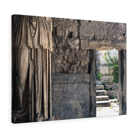 Goddess and Doorway Canvas Print, Athens, Greece