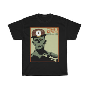 Zombie Shirt - Zombie Miner WPA Poster T-Shirt - Men's T-Shirt - FREE shipping in US