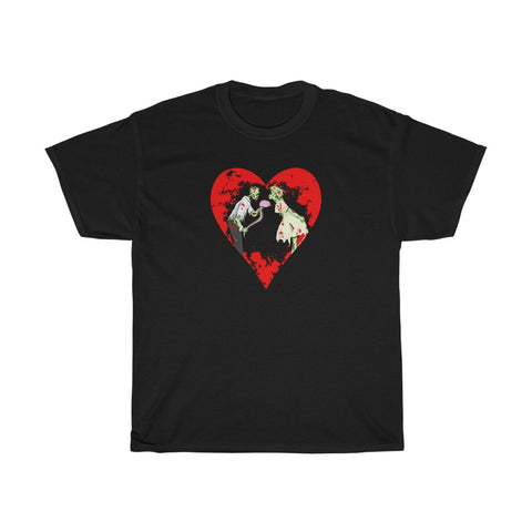 Zombie Love with Heart - Men's T-Shirt - FREE shipping in US