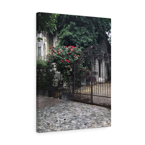 Bucharest Courtyard Canvas Print, Bucharest, Romania