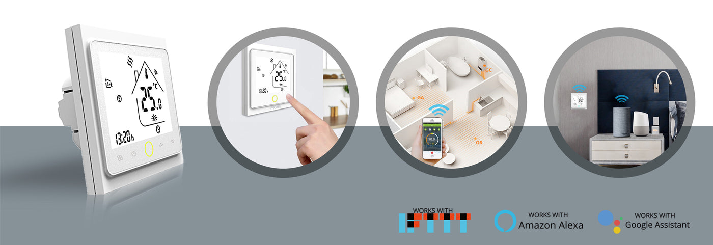Wi-Fi smart light dimmer switch 2 3 way smart thermostat