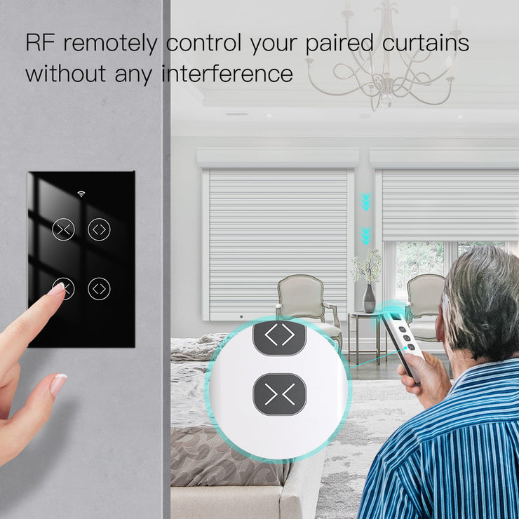 2020 NEW WiFi RF433 Smart Touch Switch 2/3 Way Smart Life/Tuya App Control,Alexa Google Home Voice Control 2 Gang EU