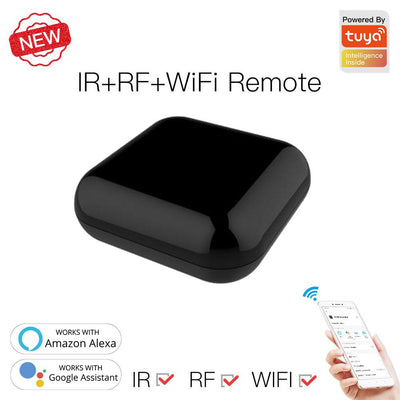 Newest Version WiFi RF IR Universal Remote Controller Smart Home Blaster Infrared RF Appliances - Moes