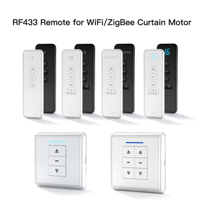 RF433 Remote Emitter For Controlling WiFi ZigBee Curtain Motor Hand-held Wall-Mounted Transmitter Multiple Channels Optional - Moes