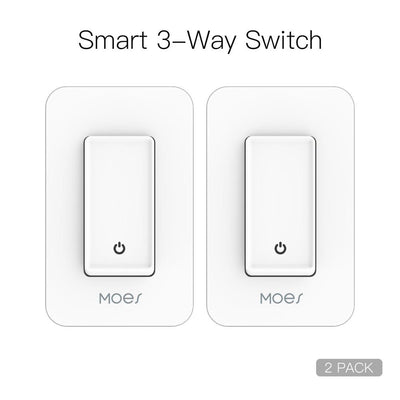 Snow Rock Series New 3-Way WiFi Smart Light Switch US Version 2 PACK - Moes