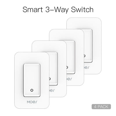Snow Rock Series New 3-Way WiFi Smart Light Switch US Version 4 PACK - Moes