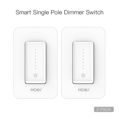 Snow Rock Series New Smart WiFi Dimmer Light Wall Switch US Version 2 PACK - Moes