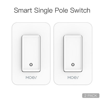 Snow Rock Series New WiFi Single Pole Smart Light Switch US Version 2 PACK - Moes