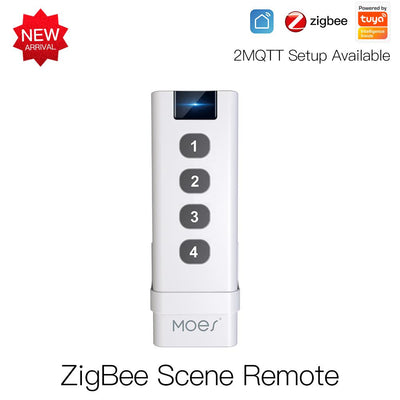 Tuya Smart Life ZigBee Smart Home Wireless Switch 4 Gang Remote Point to Point Control - Moes