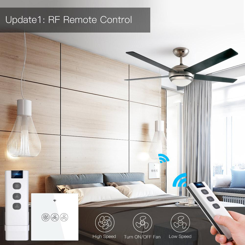 Eu Wifi Smart Ceiling Fan Switch App Remote Timer And Speed Control C Moes