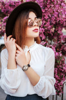 The Earth element symbolizes Health in The Five Element of the Feng Shui Theory - Women Fashion watch