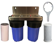 "Load image into Gallery viewer, 10""x4.5"" Big Blue Housing Agricultural Water Filter, Bracket, Spanner NO Filters BB10"