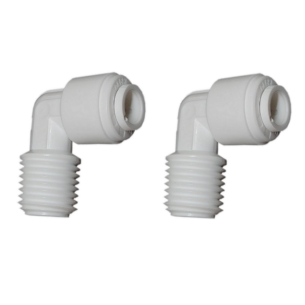 2x ELBOW Quick Push Connectors | Water Filter RO Tube Speed Fit Connectors