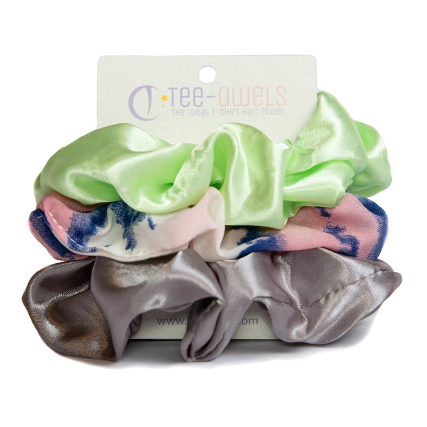 Funki! Combo Satin Scrunchie Set