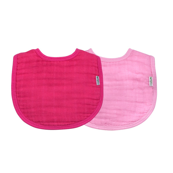 Muslin Bibs made from Organic Cotton (2 pack) - Pink Set