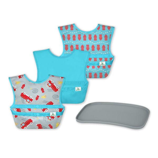 Snap and Go® Easy-wear Bibs + Mini Platemat Set