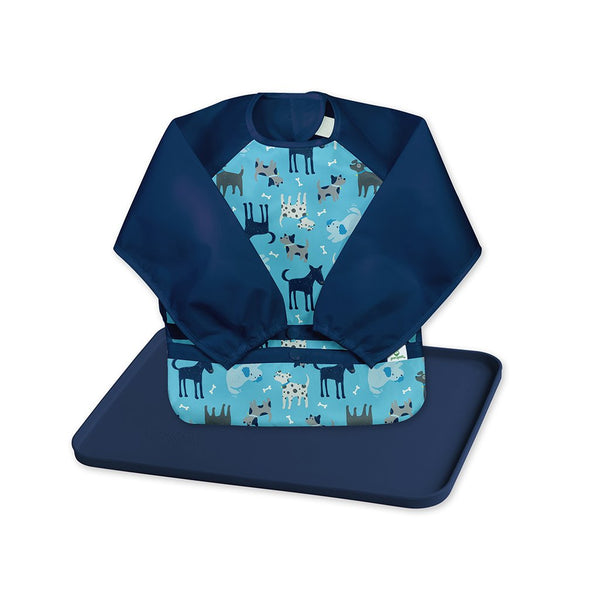 Snap and Go® Easy-wear Long Sleeve Bib + Platemat Set