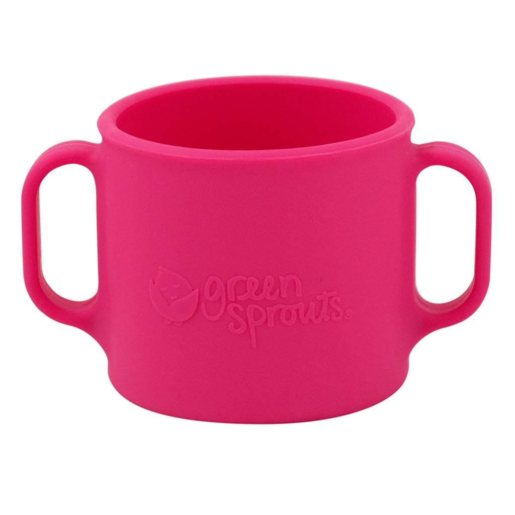 Pink Learning Cup made from Silicone