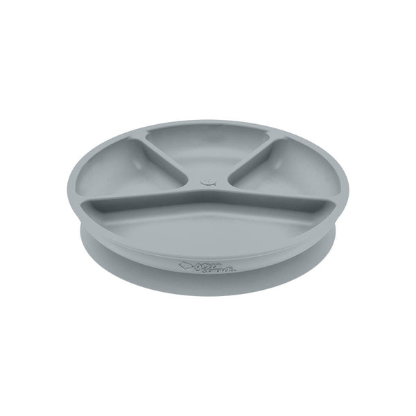 Gray Learning Plate made from Silicone