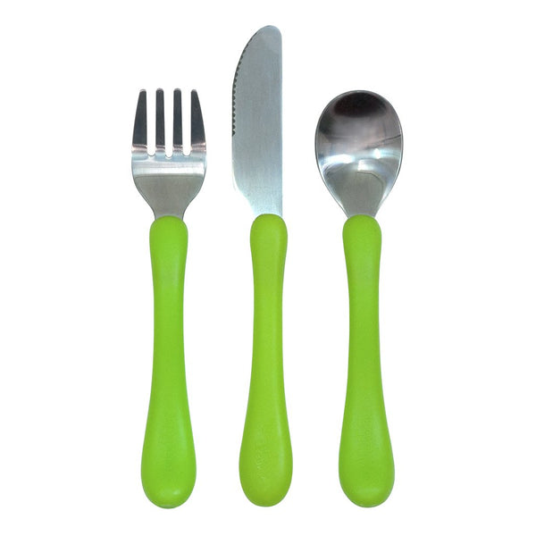 Green Learning Cutlery Set