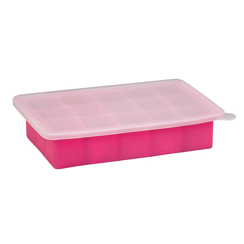 Pink Fresh Baby Food Freezer Tray