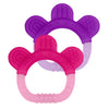 Two Everyday Teethers made from Silicone - Purple and Pink
