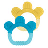 Two Everyday Teethers made from Silicone - Yellow and Aqua