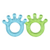 Two Cooling Everyday Teethers - Light blue and light green.