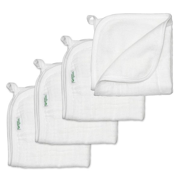 Muslin Washcloths made from Organic Cotton (4 pack)
