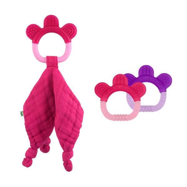 Blankie & Silicone Teether Set