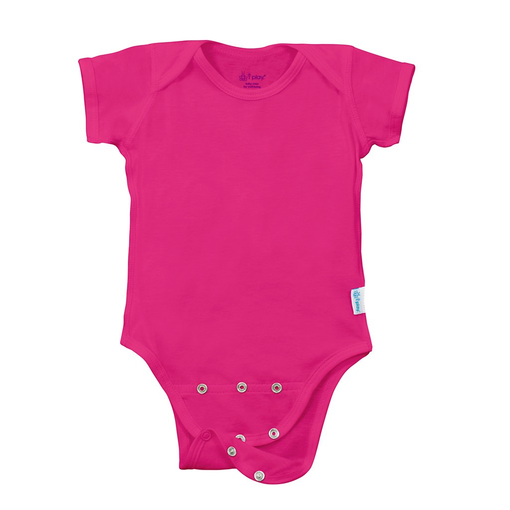 Short Sleeve Adjustable Bodysuit made from Organic Cotton