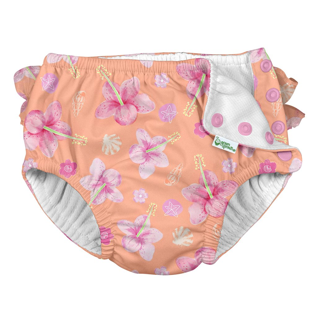 Pink Dragonfly Floral I play Swim Nappy 6 to 12 Months