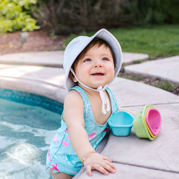 Two-piece Bow Tankini with Snap Reusable Absorbent Swim Diaper - original