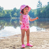 One-piece Classic Swimsuit with Built-in Reusable Absorbent Swim Diaper - original